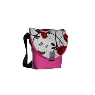bolso romántico del carrito del rosa del vintage bolsa de mensajería