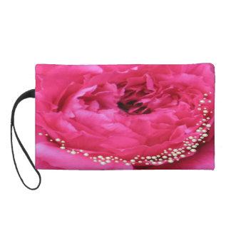 Bolso rosado de Bagettes del Peony y de las perlas