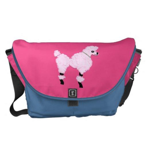 Bolso rosado de la bolsa de mensajero o del perrit bolsas messenger
