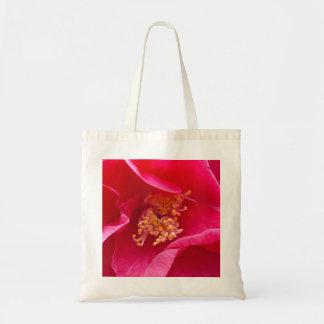 Bolso rosado de la camelia bolsas