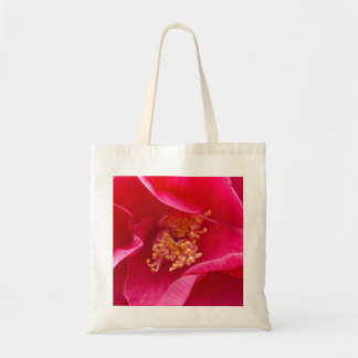 Bolso rosado de la camelia bolsa tela barata