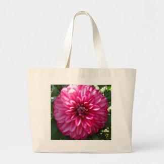 Bolso rosado de la dalia bolsas de mano