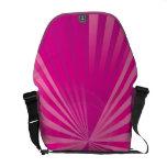 Bolso rosado de la fan bolsa messenger