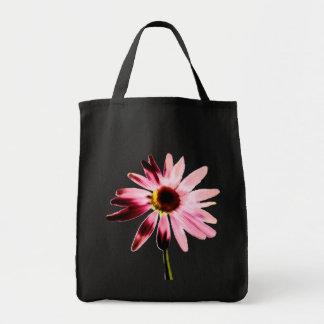 Bolso rosado de la flor del cono bolsas