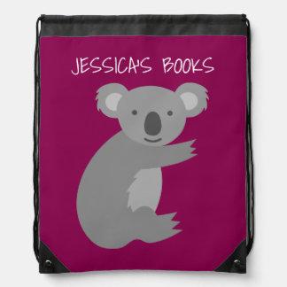Bolso rosado de la mochila del lazo del oso de