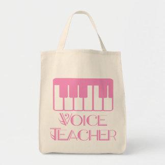Bolso rosado de la música del profesor de la voz bolsa tela para la compra