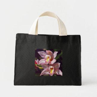 Bolso rosado de la orquídea bolsas de mano