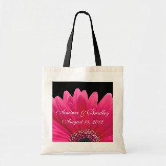 Bolso rosado de la recepción del boda de la margar bolsa lienzo