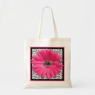 Bolso rosado de la recepción del boda de la margar bolsas