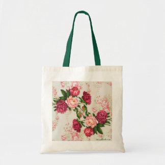 Bolso rosado de los rosas bolsa tela barata