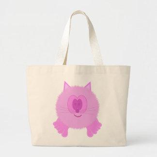 Bolso rosado de Pom Pom PAL del gato Bolsa De Tela Grande