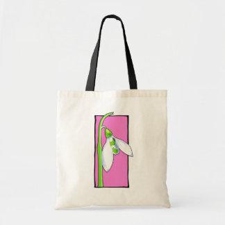 Bolso rosado de Snowdrop Bolsa Tela Barata