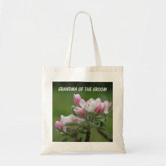 Bolso rosado del boda del flor de la manzana bolsa tela barata