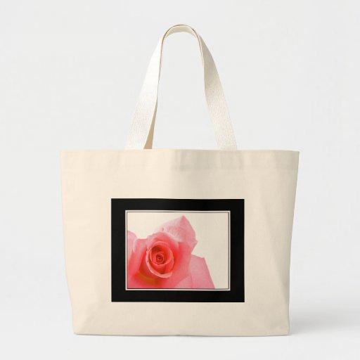 Bolso rosado del capullo de rosa bolsas de mano