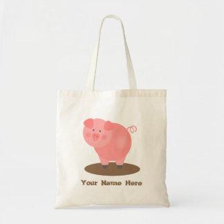 Bolso rosado del charco de fango del cerdo bolsas