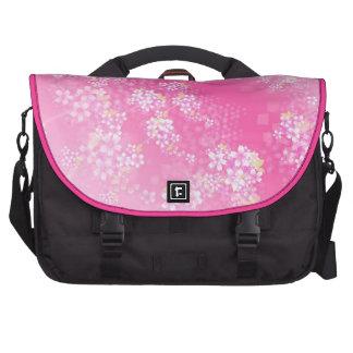 Bolso rosado del ordenador portátil de la flor de bolsas para ordenador