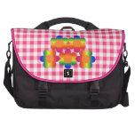 Bolso rosado del ordenador portátil de la guinga d bolsas de portatil