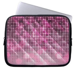 Bolso rosado del ordenador portátil de Sparly Mangas Portátiles