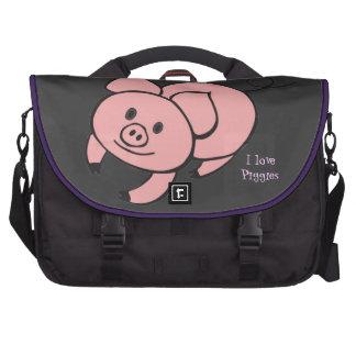 Bolso rosado del ordenador portátil del cerdo bolsa para ordenador