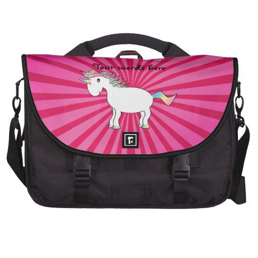 Bolso rosado del ordenador portátil del unicornio  bolsas de portátil