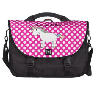 Bolso rosado del ordenador portátil del unicornio  bolsas para portatil
