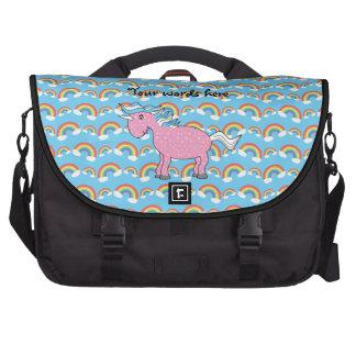 Bolso rosado del ordenador portátil del unicornio bolsa de ordenador