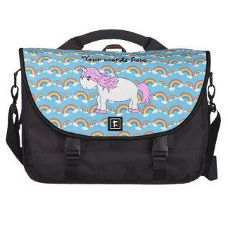 Bolso rosado del ordenador portátil del unicornio bolsas para ordenador