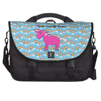 Bolso rosado del ordenador portátil del unicornio bolsas de ordenador