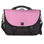 Bolso rosado del ordenador portátil del viajero de bolsas para ordenador