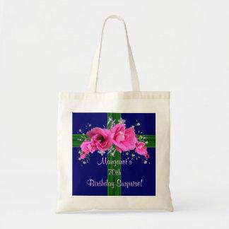 Bolso rosado del regalo de cumpleaños del ramo bolsa tela barata