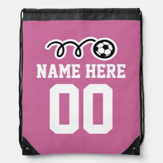 Bolso rosado personalizado de la mochila del lazo