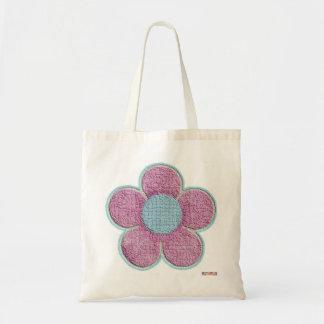 Bolso rosado texturizado de la flor bolsas de mano