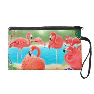 Bolso rosado tropical de Bagettes de los pájaros d