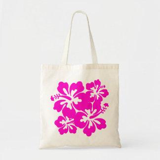 Bolso rosado tropical del hibisco bolsas