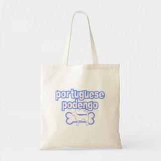 Bolso rosado y azul de Podengo del portugués del a Bolsas