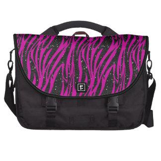 Bolso rosado y negro del ordenador portátil de la  bolsas de portátil