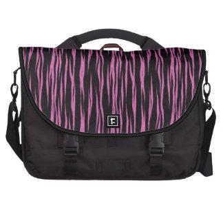 Bolso rosado y negro del ordenador portátil del mo bolsas de portátil
