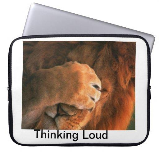 Bolso ruidoso de pensamiento de la electrónica funda ordendadores