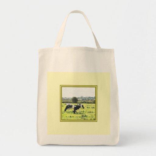 Bolso rural de la escena a reutilizar bolsa tela para la compra