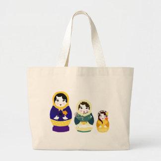Bolso ruso de las muñecas bolsas lienzo