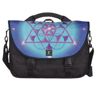 bolso sagrado azul ultravioleta del hexagram de la bolsa para ordenador