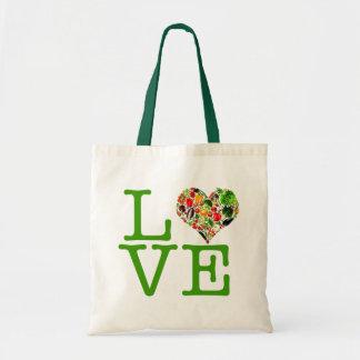 Bolso sano del amor del vegano bolsas