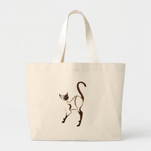 Bolso siamés derecho elegante del gatito bolsas