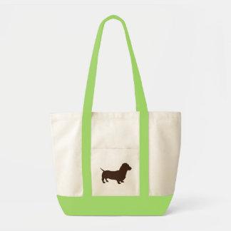 bolso simple del dachshund bolsa tela impulso