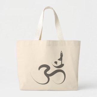 Bolso simple del logotipo de la silueta de la bolsa tela grande