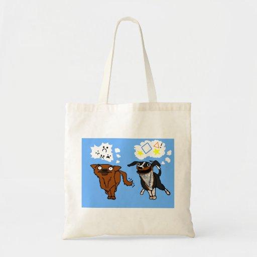 Bolso simple del perro y del perro del ayudante bolsas lienzo