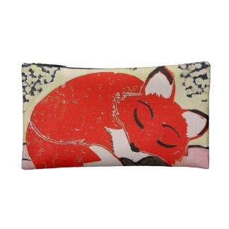 Bolso soñoliento del cosmético del Fox