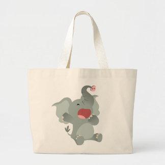 Bolso soñoliento lindo del elefante del dibujo ani bolsas de mano