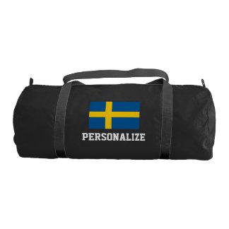 Bolso sueco personalizado del gimnasio de la lona bolsa de deporte