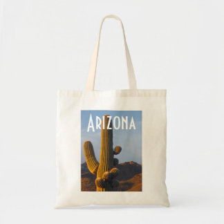 Bolso Sunlit del Saguaro de Arizona Bolsa Tela Barata